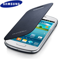Genuine Samsung Galaxy S3 Mini Flip Cover - Blue - EFC-1M7FBEC