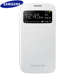 Genuine Samsung Galaxy S4 S-View Premium Cover Case - White
