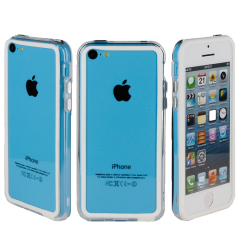 GENx Bumper Case for Apple iPhone 5C - White