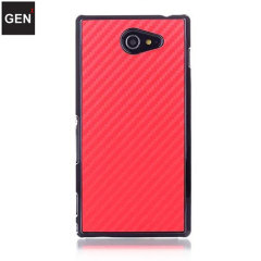 GENx Sony Xperia M2 Carbon Fibre Case - Red
