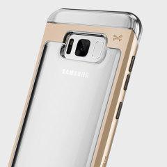 Ghostek Cloak 2 Samsung Galaxy S8 Aluminium Tough Case - Clear / Gold