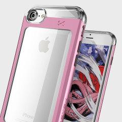 Ghostek Cloak 2 Series iPhone 7 Aluminium Tough Case - Clear / Pink