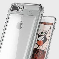 Ghostek Cloak iPhone 7 Plus Aluminium Tough Case - Clear / Silver