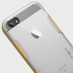 Ghostek Cloak iPhone SE Aluminium Tough Case - Clear / Gold