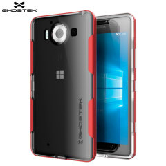 Ghostek Cloak Microsoft Lumia 950 Tough Case - Clear / Red