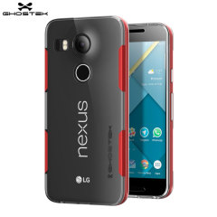 Ghostek Cloak Nexus 5X Tough Case - Clear / Red