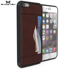 Ghostek Stash iPhone 6S / 6 Genuine Leather Wallet Case - Dark Brown