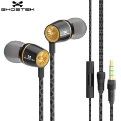 GhostekTurbine Series HD Sound Hands-Free Earphones - Black / Gold