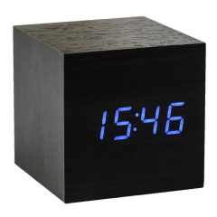 Gingko Cube Click Clock Noise-Activated Alarm Clock - Ebony