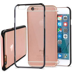 Glimmer Polycarbonate iPhone 6S / 6 Shell Case - Black and Clear