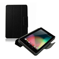 Google Nexus 7 Leather Style Case & Stand - Black