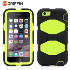 Griffin Survivor iPhone 6 All-Terrain Case - Black / Citron