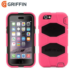 Griffin Survivor iPhone 6S / 6 All-Terrain Case - Pink / Black