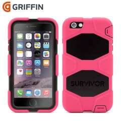 Griffin Survivor iPhone 6S Plus / 6 Plus All-Terrain Case - Pink/Black