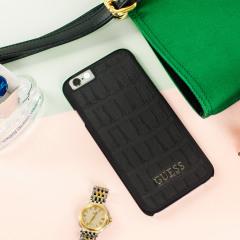 Guess Croc Effect iPhone 6S / 6 Designer Shell Case - Black