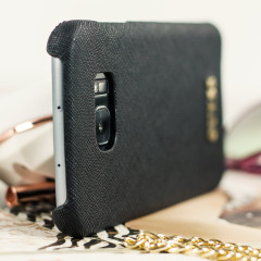 Guess Leather-Style Samsung Galaxy S7 Edge Shell Case - Black
