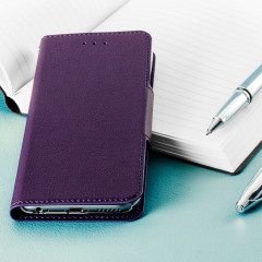 Hansmare Leather-Style Super Slim iPhone 6S / 6 Wallet Case - Violet