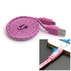 Happy Braided Light-up 1m Lightning Cable - Pink