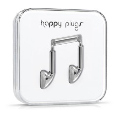 Happy Plugs EarBud Earphones Deluxe Edition - Silver