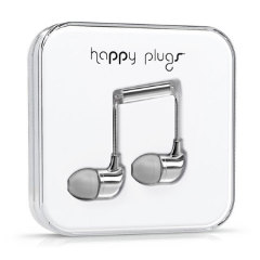 Happy Plugs In-Ear Earphones Deluxe Edition - Silver