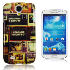 Hard Cover Case For Samsung Galaxy S4 - Retro TV Print