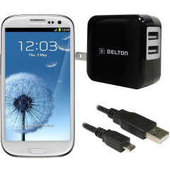 High Power 2.1A Samsung Galaxy S3 Wall Charger - USA Mains