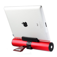 HS100 Wireless Bluetooth Speaker and Stand - Red