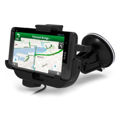 HTC One M7 Car Mount Cradle with Hands-Free & Charger