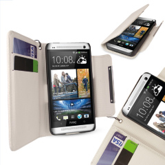 HTC One Wallet Case - White