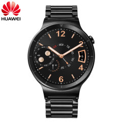 Huawei Active Watch for Android & iOS - Black Steel Link Strap
