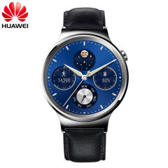 Huawei Classic Watch for Android & iOS - Black Leather Strap