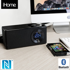 iHome iBN10 FM Clock Radio Bluetooth Speaker With NFC