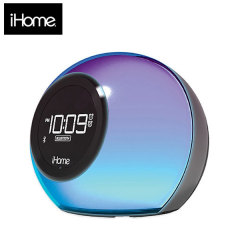 iHome iBT29 Colour Changing FM Clock Radio with Bluetooth