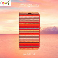IKINS Fabric Samsung Galaxy S5 Case - Hawaiian Stripe