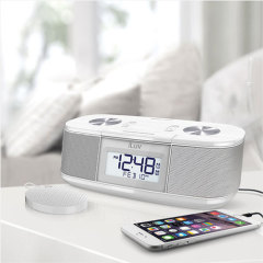 iLuv Timeshaker Micro Bluetooth LED Alarm Clock Speaker - Black