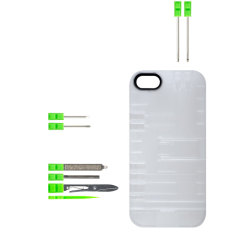 IN1CASE Multi-Tool Utility iPhone 5S / 5 Case - Clear / Green