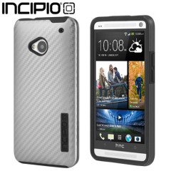 Incipio DualPro CF Case for HTC One M7 - Silver / Black