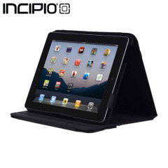Incipio Executive Kickstand Case for iPad 3 - Black Leather