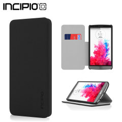 Incipio Highland Leather-Style LG G3 Wallet Case - Black