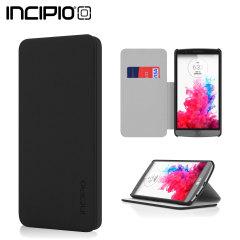 Incipio Highland Leather-Style LG G3 Wallet Case - Black