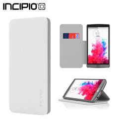 Incipio Highland Leather-Style LG G3 Wallet Case - White