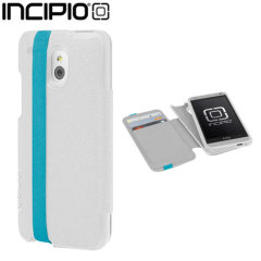 Incipio Watson Wallet Case for Samsung HTC One mini - White / Teal