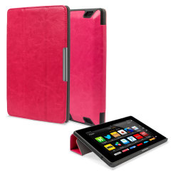 Infold Folding Folio Stand Case for Kindle Fire HD 2013 - Pink