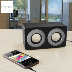 Intempo Mini Blaster Dual Speaker - Grey and Black