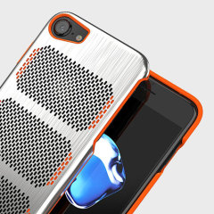 IOM Extreme GT iPhone 7 Stainless Steel Case - Black / Orange