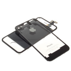 iPhone 4S / 4 Transparent Front & Rear Panel Set - Black
