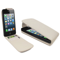 iPhone 5 Flip Case - White