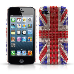 iPhone 5S / 5 Diamante Back Cover - Union Jack