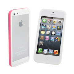 iPhone 5S / 5 Sandwich Bumper - Pink & White