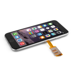 iPhone 6S / 6 Dual SIM Card Adapter With Back Case - Black